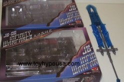 Transformers 3rd Party Accessories – JB-00 Infinity Warfare, JB-06 Infinity Warfare II by Junkion Blacksmith Studio Review (Blue Accessories)