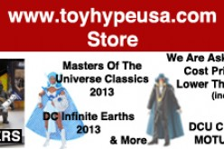 Our Store – Pre-Order MOTUC Snake Face, DCU Club Infinite Earths Larfleeze & Club Exclusive Monsieur Mallah & The Brain, Prices Lowered