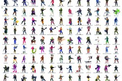 G.I. Joe 1980's Action Figures Featured On One Poster