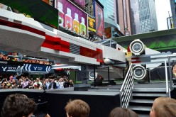 Lego Gallery Of Star Wars X-Wing Starfighter In Times Square