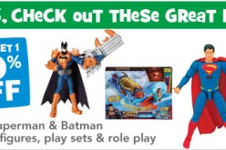 Toys R Us Offers A Buy 1, Get 1 At 40% Off All Superman & Batman Figures Sale Friday & Saturday Only