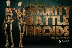Sideshow Announces Star Wars Security Battle Droids 2-Pack Sixth Scale Figures Coming