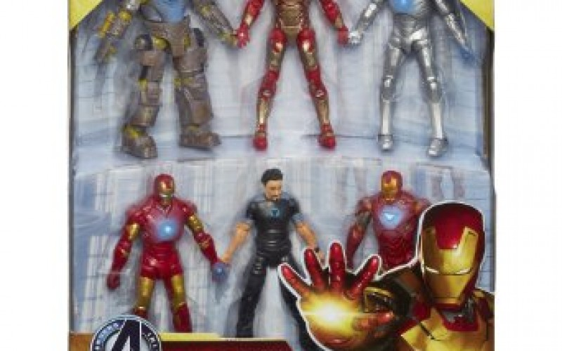 Iron Man 3 Marvel Hall Of Armor 4 Inch Box Set Listed On Amazon