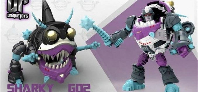 Unique Toys Transformers G1 Sharky (Sharkticon) 3-Pack Figures Coming