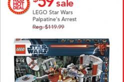 Toys R Us Sale On LEGO Star Wars Palpatine's Arrest November 6th Only