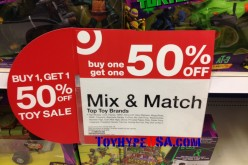 Target Offering Mix & Match Toy Sale Of Buy 1, Get 1 At 50% Off Until April 19th