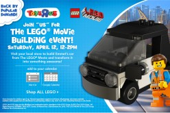 ToysRUs LEGO Movie Building Event Taking Place Saturday April 12th
