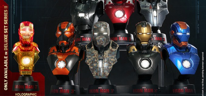 Pre-Order – Hot Toys Iron Man 3 Deluxe Collectible Bust Set Of 8