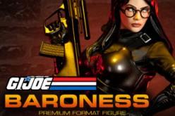 Sideshow G.I. Joe Baroness Premium Format Figure & Cobra Commander Diorama Almost Gone