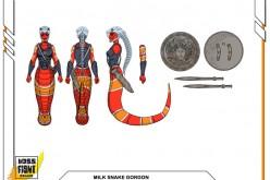 Boss Fight Studio's Vitruvian H.A.C.K.S. Milk Snake Gorgon Figure & Blank Bodies Wave 4 Unlocked