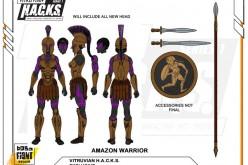 Boss Fight Studio's Vitruvian H.A.C.K.S. Underworld Queen Amazon Warrior Figure Unlocked