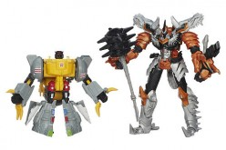 """Toys """"R"""" Us Exclusive Transformers Age of Extinction Grimlock Evolution 2-Pack On Sale For $29.99"""