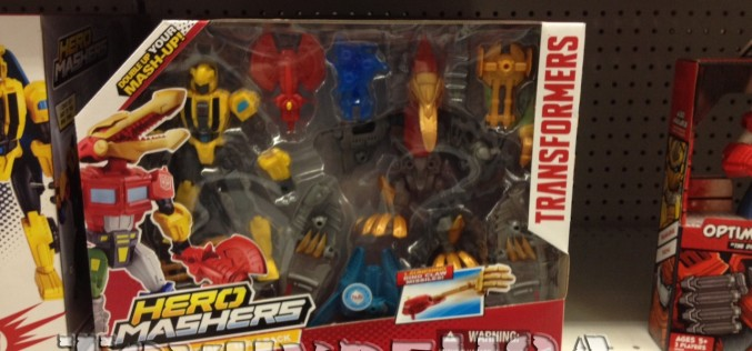 "Transformers Hero Mashers Bumblebee & Strafe Team Pack Sighting At Toys ""R"" Us"