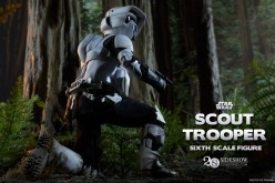 Sideshow Previews Star Wars Scout Trooper & Speeder Bike Sixth Scale Figures