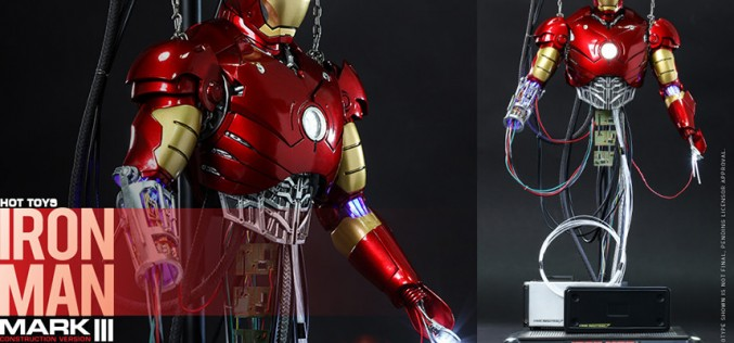 Hot Toys Iron Man Mark III Construction Version Sixth Scale Figure Pre-Orders Go Live