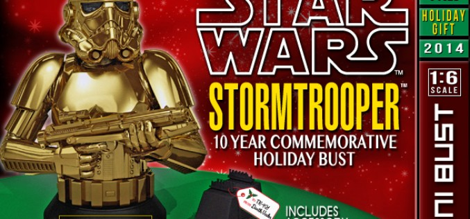 Gentle Giant Ltd. Star Wars Stormtrooper 10 Year Commemorative Holiday Bust