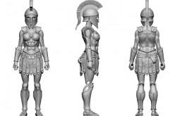 Boss Fight Studio Vitruvian H.A.C.K.S. Amazon Warrior Digital Sculpt Images