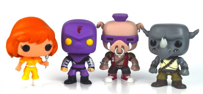 Funko TMNT Wave 2 – April O'Neil, Foot Soldier, Bebop, & Rocksteady Pop! Vinyl Figures Review