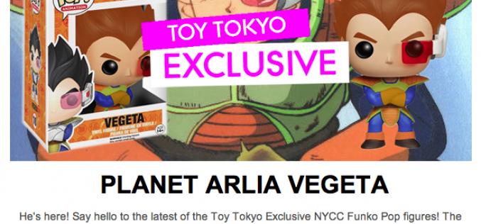 NYCC 2014 Exclusive Funko Toy Tokyo Planet Arlia Vegeta Pop Vinyl Figure