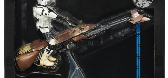Star Wars Black 6″ Deluxe Speeder Bike And Jabba The Hutt Price Drop At Amazon