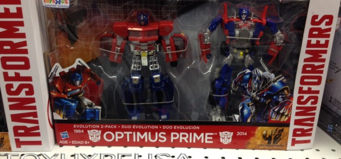 "Toys ""R"" Us Exclusive Transformers Optimus Prime Evolution 2-Pack Sighted In East Coast"