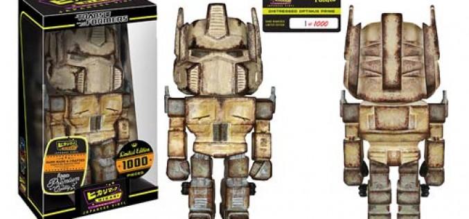 Transformers Distressed Optimus Prime And Bumblebee Premium Hikari Sofubi Vinyl Figures