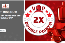 LEGO VIP Double Rewards Sale Ends October 31st & Free Holiday Set