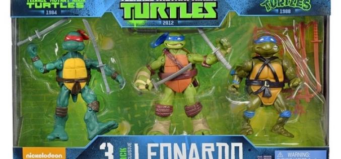 Target Exclusive Teenage Mutant Ninja Turtles Leonardo Evolution 3 Pack