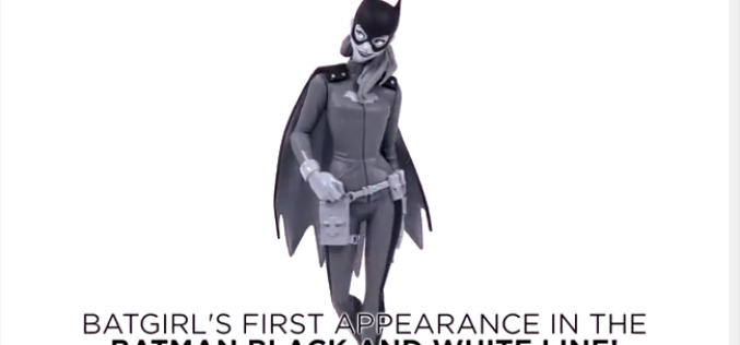 DC Collectibles The Batman: Black And White Batgirl Statue