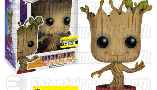 Funko Guardians Of The Galaxy Ravagers Logo Dancing Groot Pop! Vinyl Bobble Head Figure – Entertainment Earth Exclusive