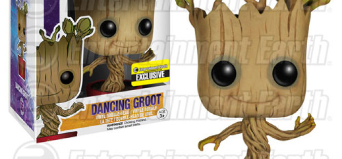 Funko Guardians Of The Galaxy Ravagers Logo Dancing Groot Pop! Vinyl Bobble Head Figure – Entertainment Earth Exclusive