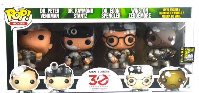 SDCC 2014 Exclusive Funko Ghostbusters 30th Anniversary Pop! Set With Marshmallow Mess Figures Review