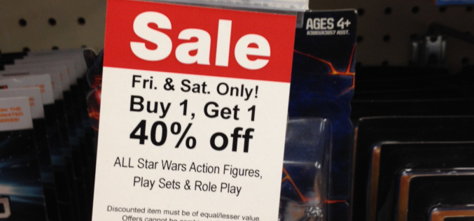 "Toys ""R"" Us Star Wars BOGO Sale Friday November 7th – Saturday November 8th"