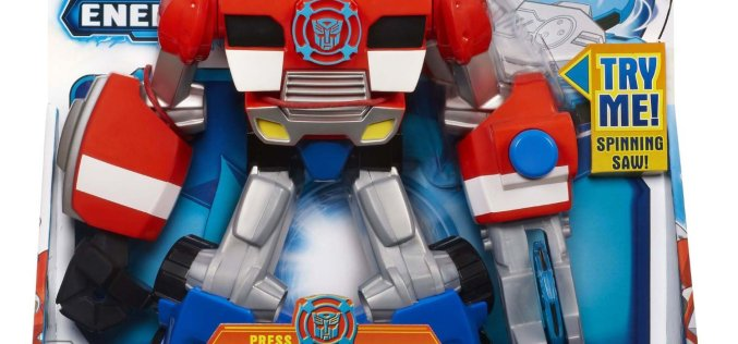 Amazon Lightning Deal On Transformers Playskool Heroes Rescue Bots Energize Electronic Optimus Prime Figure