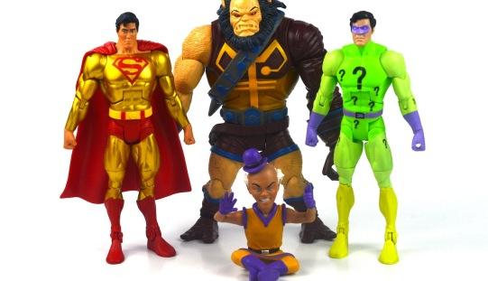 DC Universe Classics Super Powers Gold Superman, The Riddler, Mr. Mxyzptik, & Kalibak Figure Review