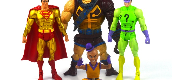 DC Universe Classics Super Powers Gold Superman, The Riddler, Mr. Mxyzptik, & Kalibak Figure Review