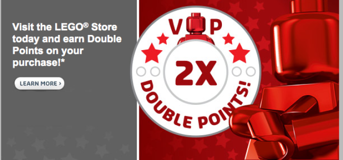 LEGO Shop Offering Double Rewards Sunday, December 21st Only