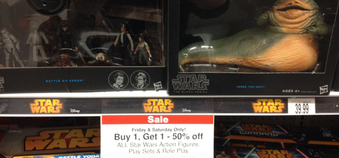 "Toys ""R"" Us Star Wars BOGO Sale On All Action Figures, Play Sets, & Roll Play"