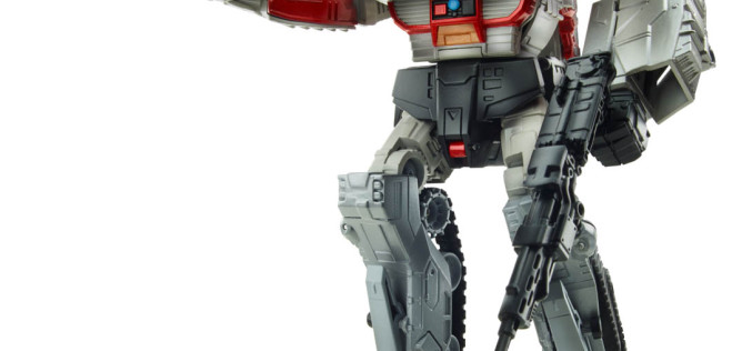 Hasbro's Transformers Generations Leader Class Megatron Figure Displayed As An Autobot Or Decepticon