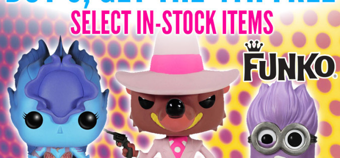 Entertainment Earth Offers Funko BOGO Deal – Buy 3, Get 4th Free