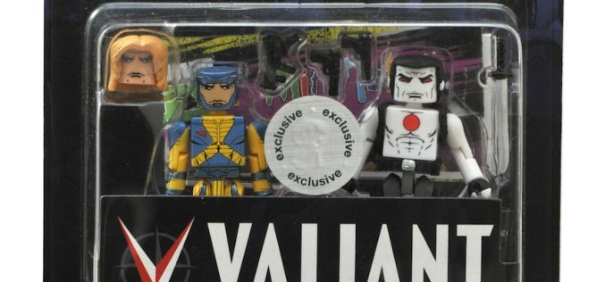 """Diamond Select Toys & Valiant Debut New X-O Manowar/Bloodshot Minimates Two-Pack – Exclusively At Toys """"R"""" Us"""