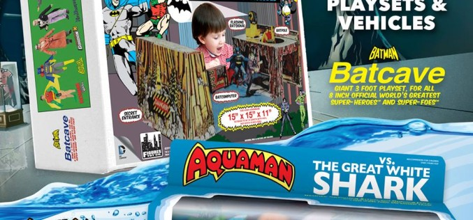 Figures Toy Company To Reissue 1970's Mego Sets Aquaman Vs. The Great White Shark & The Batcave