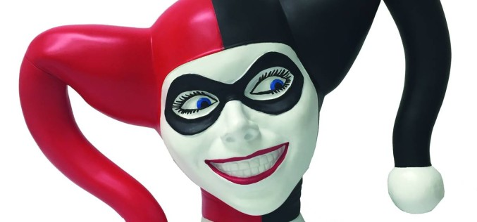 Previews Exclusive Harley Quinn Bust Bank Coming This August