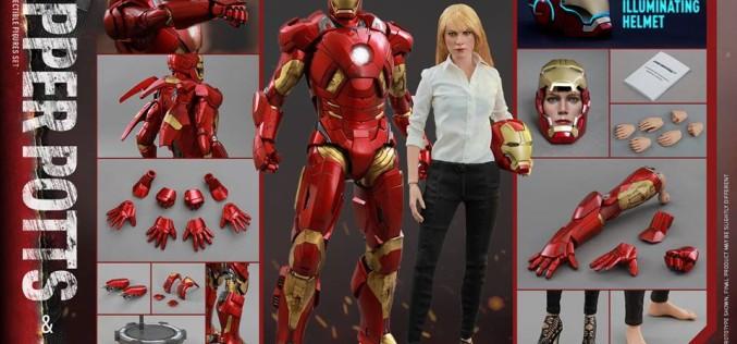 Hot Toys Pepper Potts & Mark IX Sixth Scale Figures