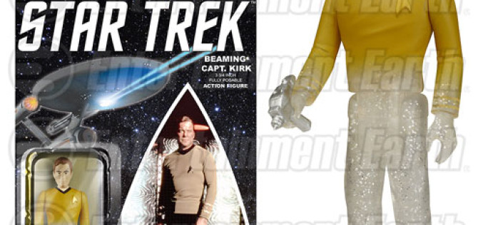 Star Trek: The Original Series Beaming Captain Kirk & Spock ReAction Figures