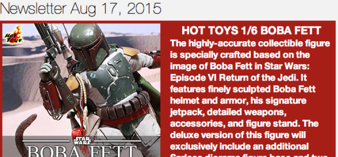 BigBadToyStore Update – Boba Fett, Pulp Fiction, Halloween, Godzilla Kaiju, Transformers, Sherlock & More
