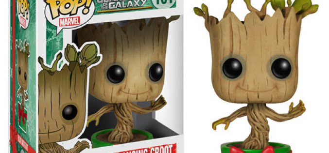 Guardians Of The Galaxy Holiday Dancing Groot Pop! Vinyl Bobble Head Figure