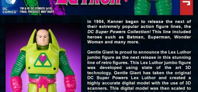Gentle Giant Ltd. August 2015 Listings – Lex Luthor, Catwoman, & Secret Wars Bobble-Series