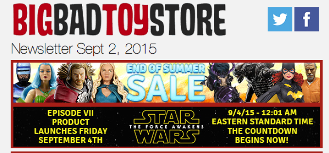 BigBadToyStore Update: BIG SALE!!, TMNT, Star Wars, Mega Man, Kirby, DC, Transformers, MGSV:PP, Assassin's Creed & More