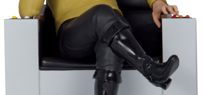 Icon Heroes Previews Exclusive Star Trek TOS Captain Kirk Bookend Statue